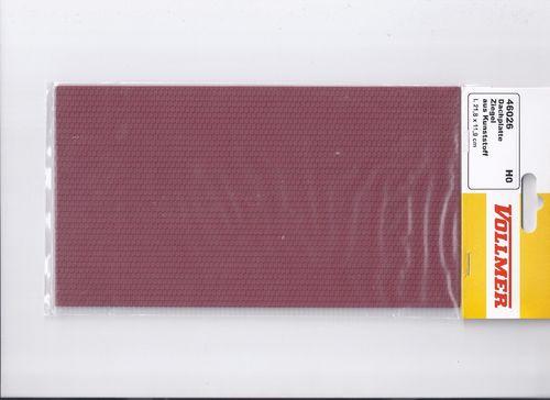 H0 21,8 x 11,9cm Vollmer 46032 Dachplatte Flachdachpfanne aus Kunststoff